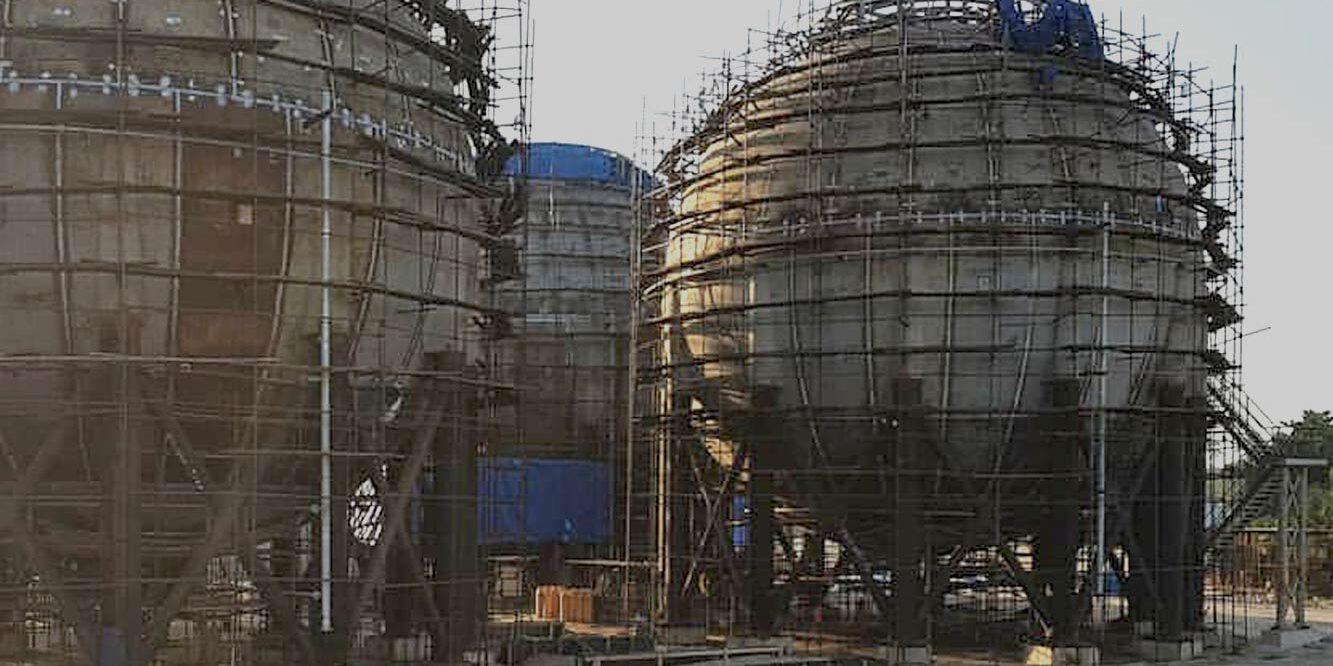 spherical storage tank